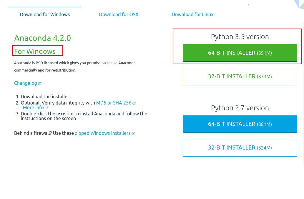 install python 3.5 in anaconda 2